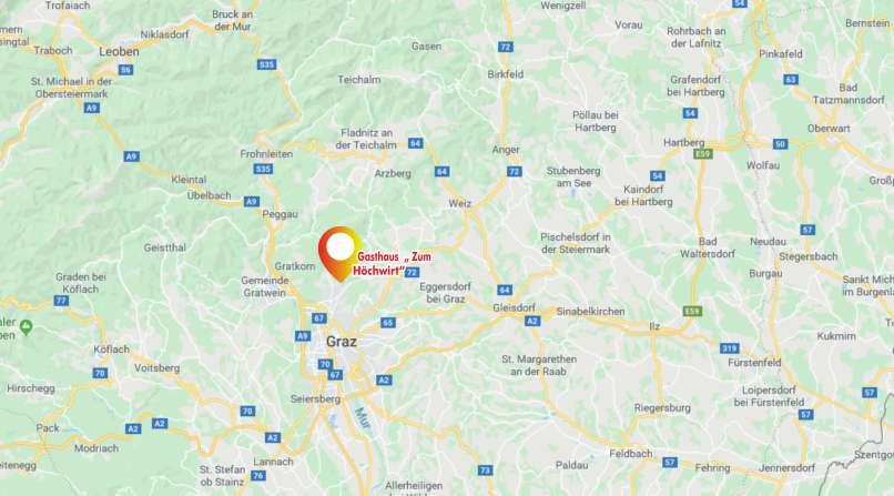 Anreise zum Hoechwirt Weinitzen Graz